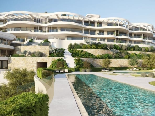 The View Marbella Facades from pool TIF-min